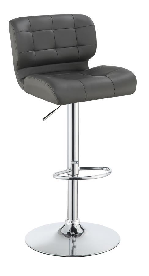 Grey Height Adjustable Bar Stool