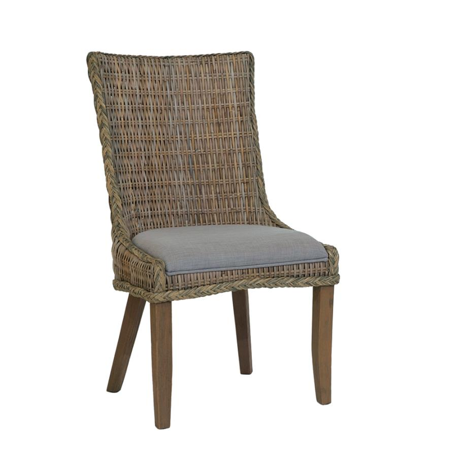 Woven Side Chair Angle