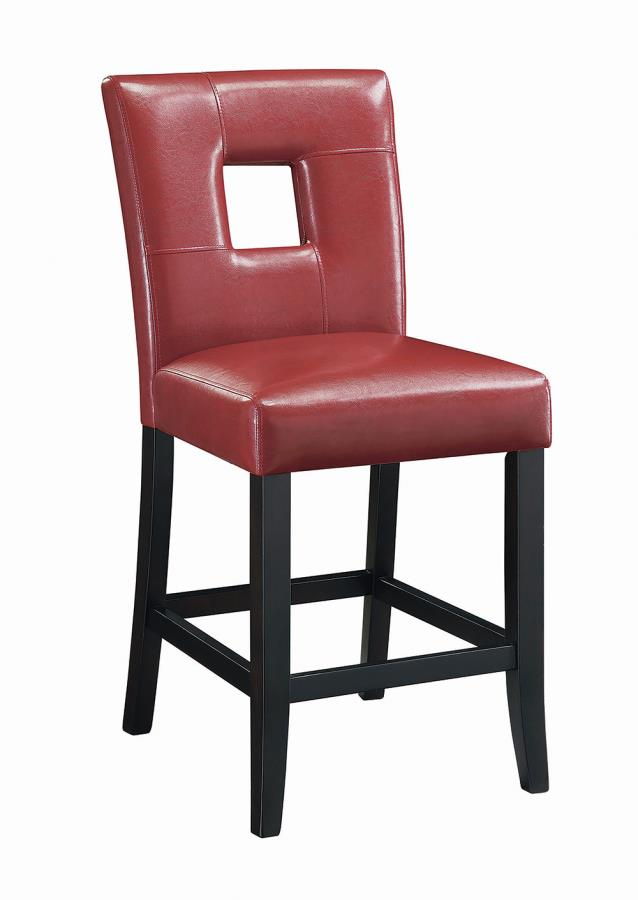 Red Leatherette Counter Height Chair