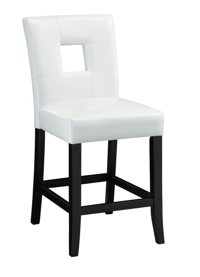 White Leatherette Counter Height Chair