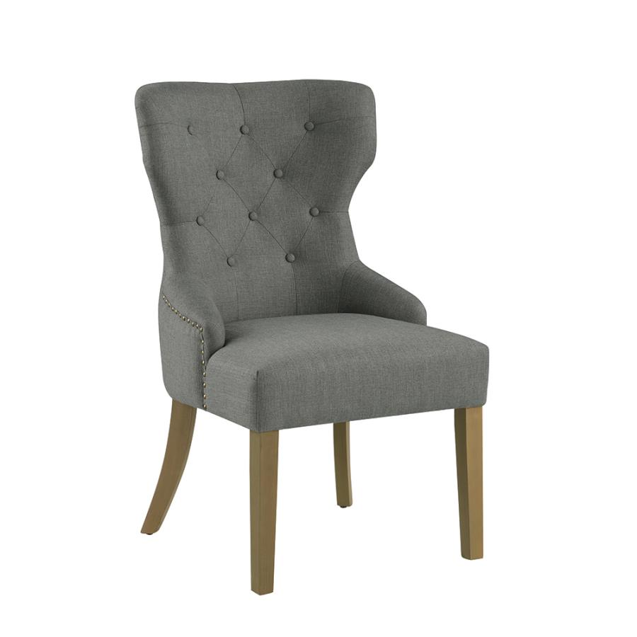 Grey Nailhead Trim Side Chair