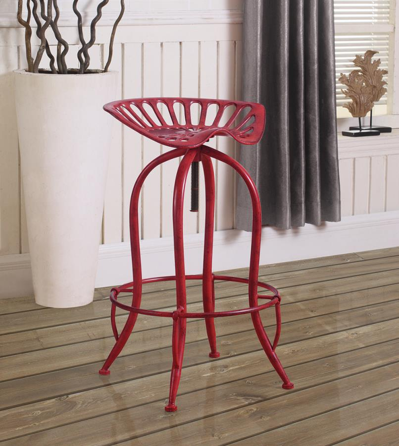 Antique Red Bar Stool