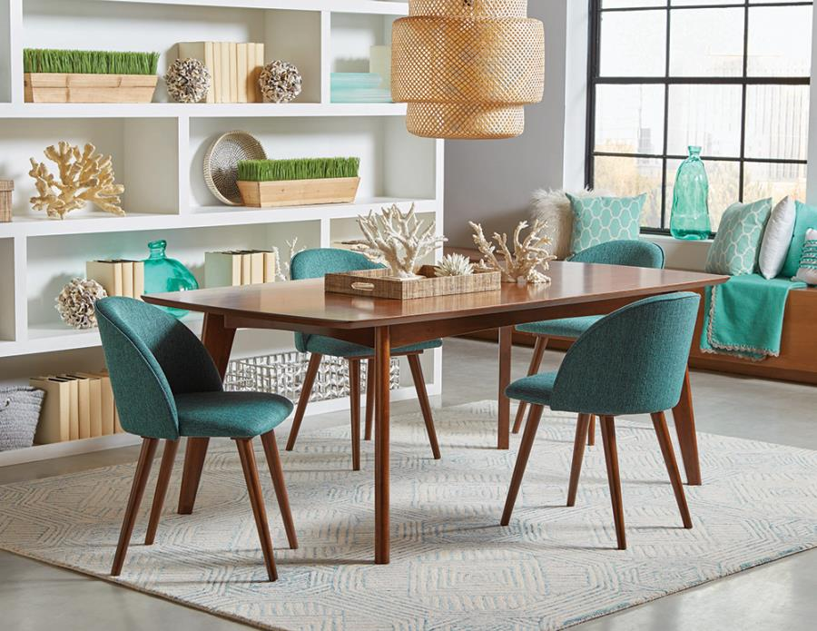 Teal Fabric Side Chairs