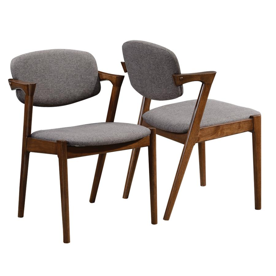 Angular Side Chair Front & Back