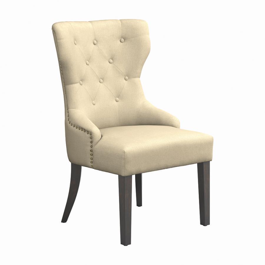 Cream Nailhead Trim Side Chair