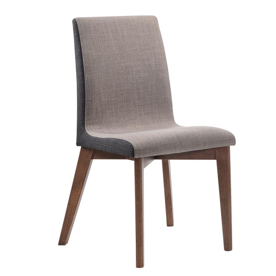 Light & Dark Grey Side Chair Angle