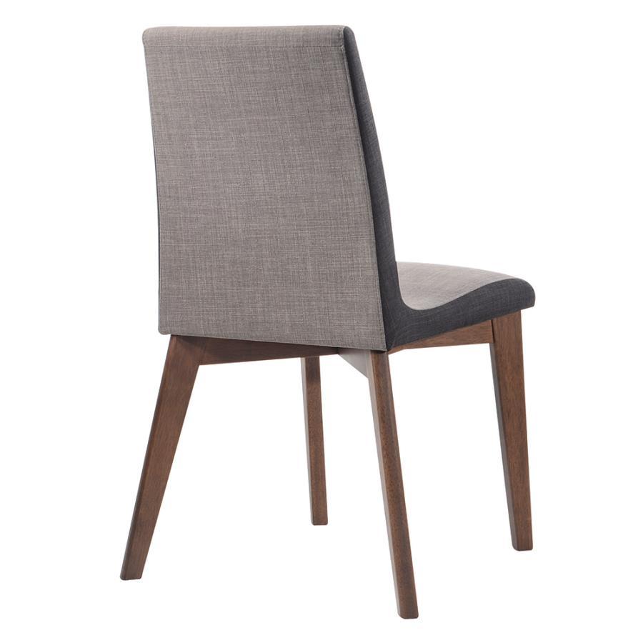 Light & Dark Grey Side Chair Back