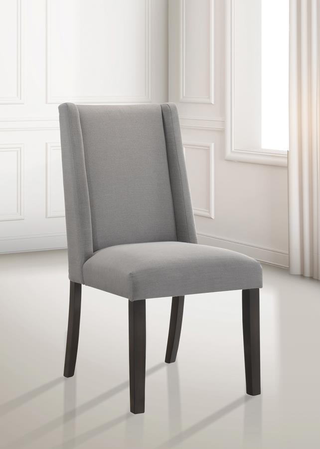 Light Grey Side Chair Angle