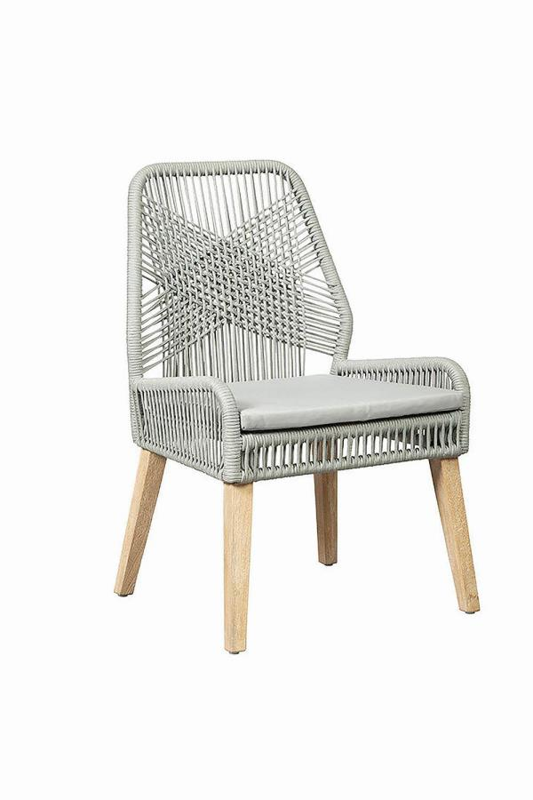 Grey Rope Side Chair