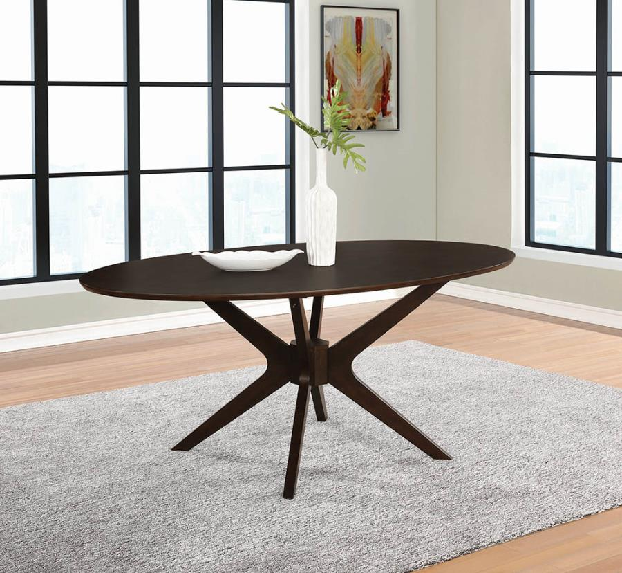 Oval Dining Table Angle