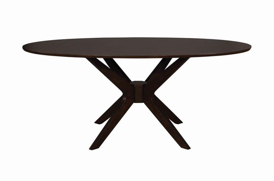 Oval Dining Table Front