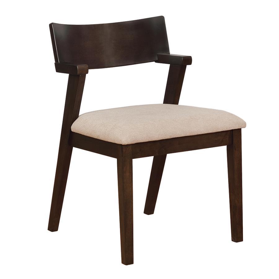Light Brown Fabric Side Chair Angle