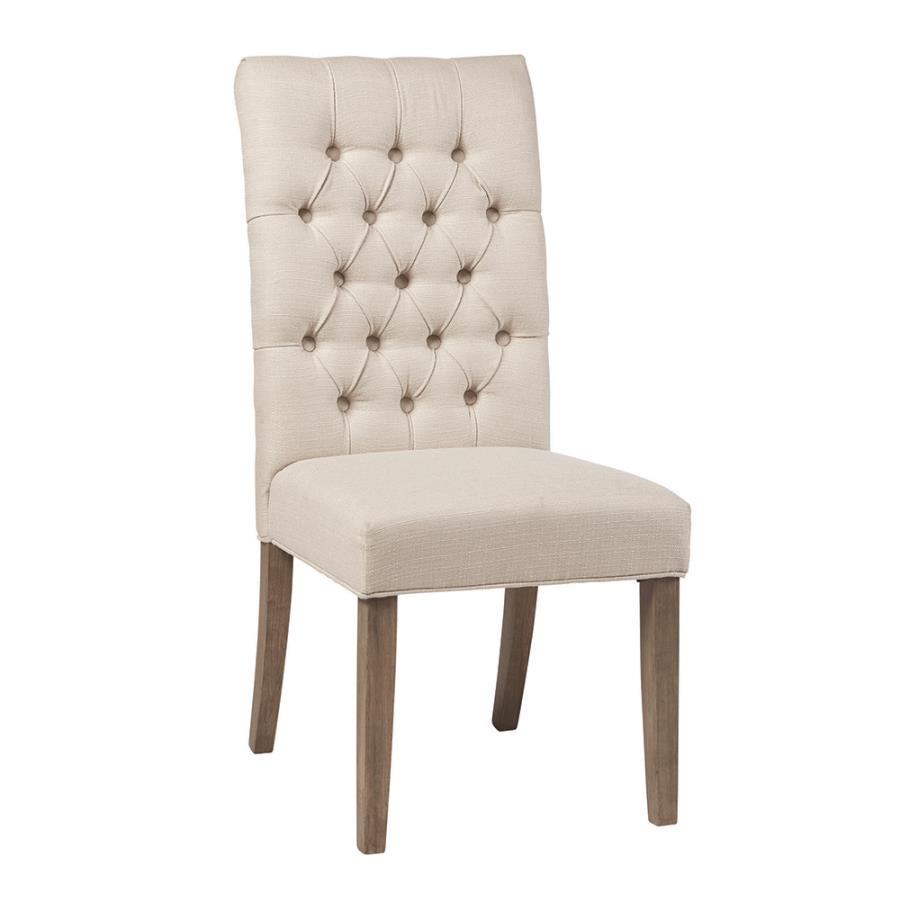 Tufted Back Dining Chair Angle