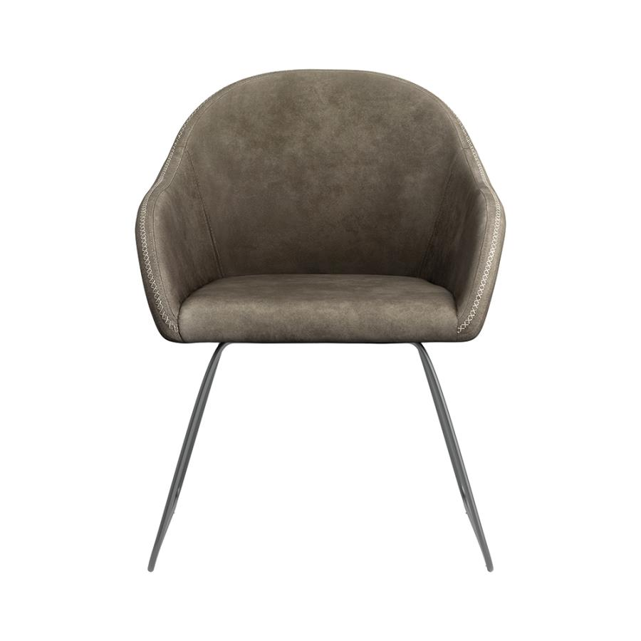 Grey Side Chair Front
