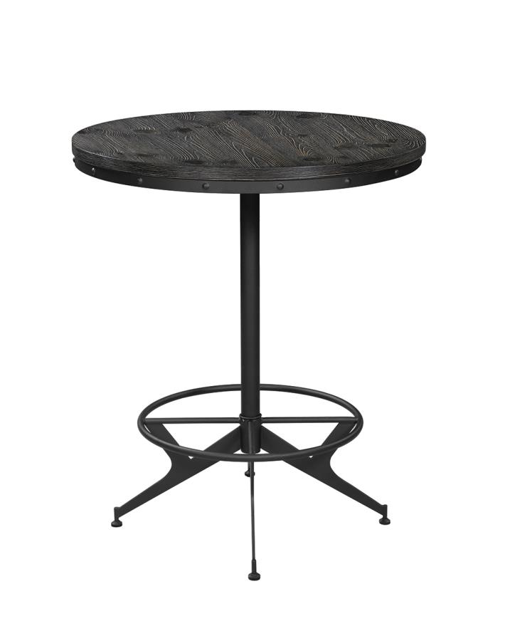 Round Bar Height Dining Table Front