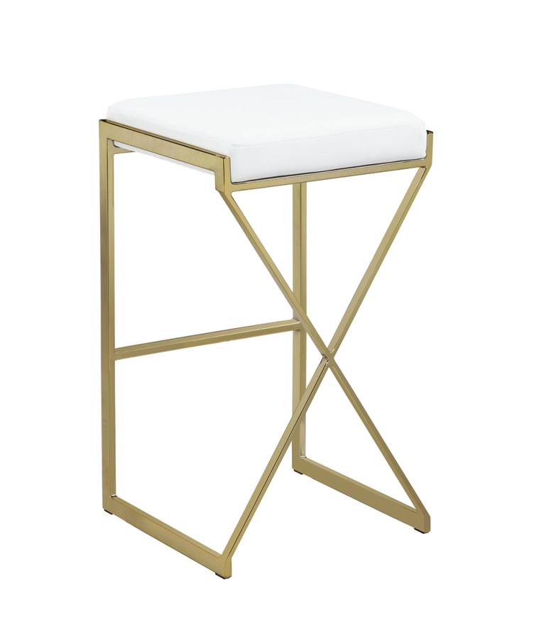 White Bar Stool Back Angle