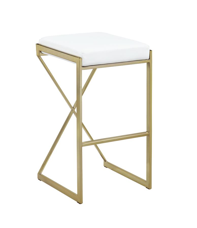 White Bar Stool Front Angle
