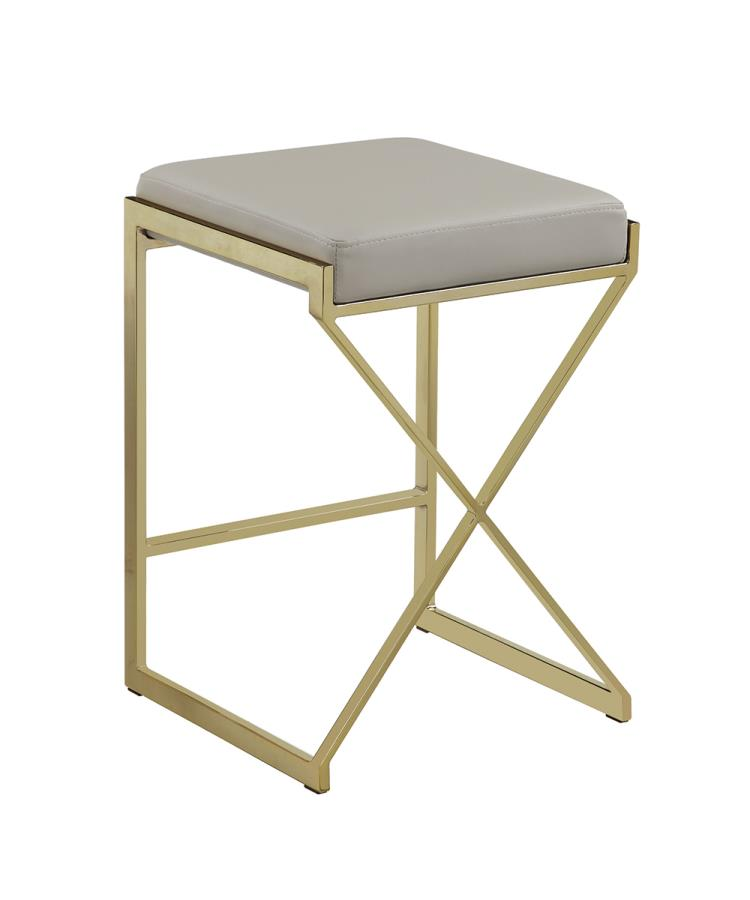 Taupe Counter Height Stool Back Angle
