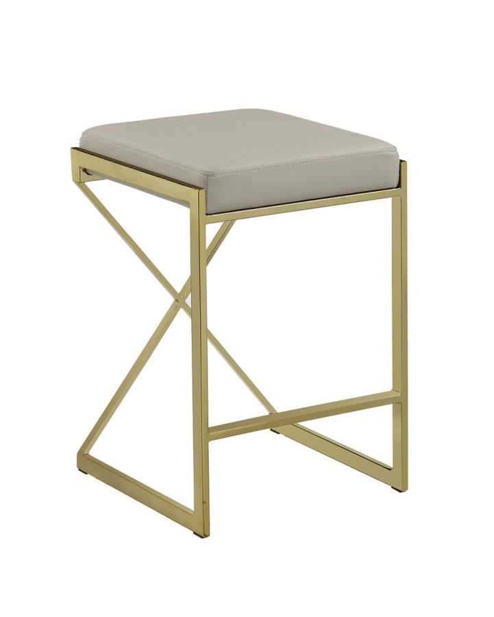 Taupe Counter Height Stool Front Angle