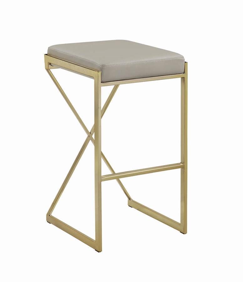 Taupe Bar Stool Front Angle