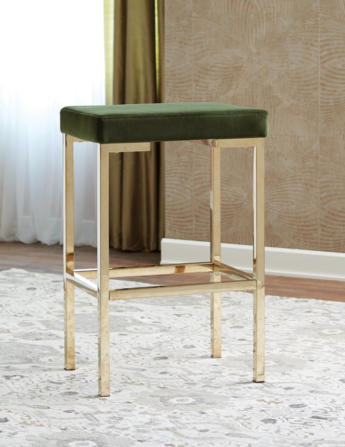 Green Fabric Bar Stool