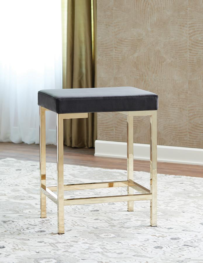 Charcoal Grey Fabric Counter Height Stool