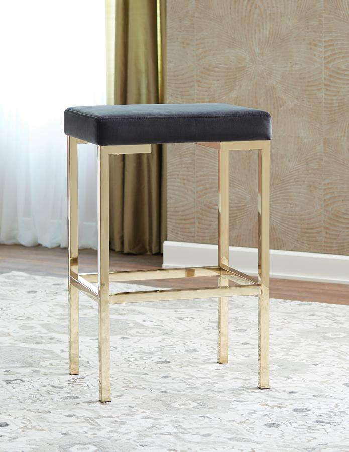 Charcoal Grey Fabric Bar Stool