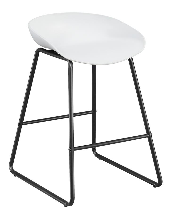 White Counter Height Stool