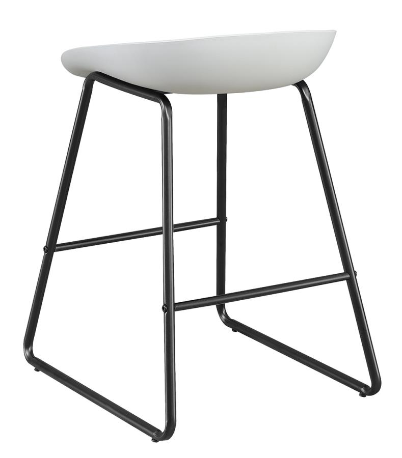 White Counter Height Stool Back