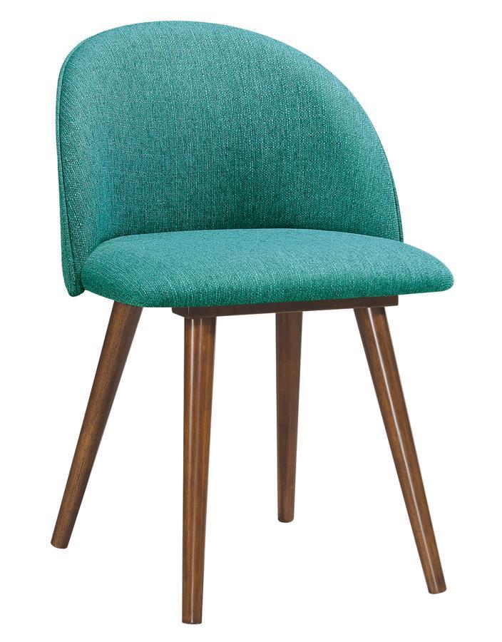 Teal Side Chair Angle