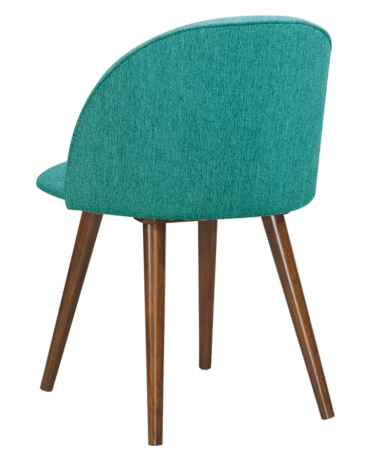 Teal Fabric Side Chair Back