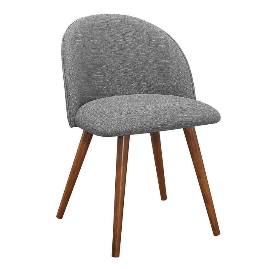 Grey Fabric Side Chair Angle