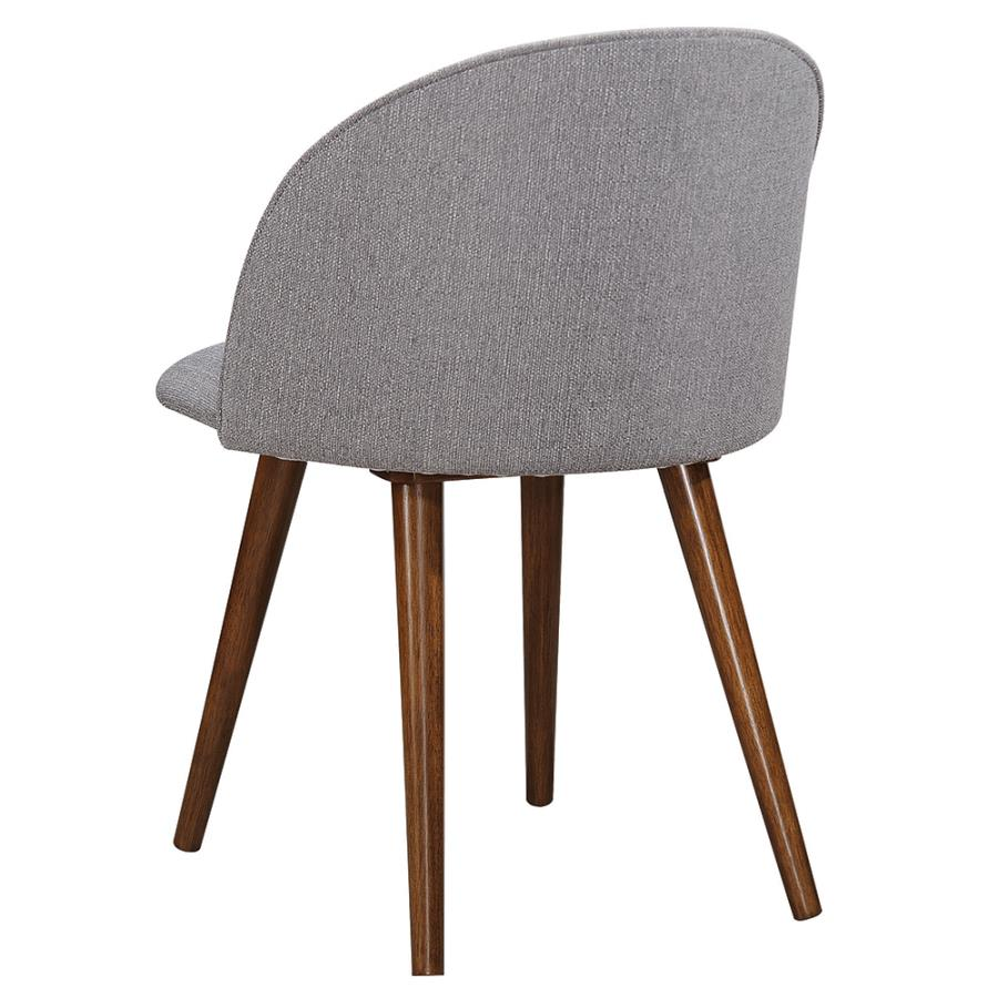 Grey Fabric Side Chair Back