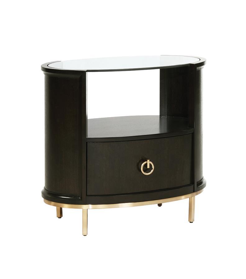 Oval Nightstand Roomview