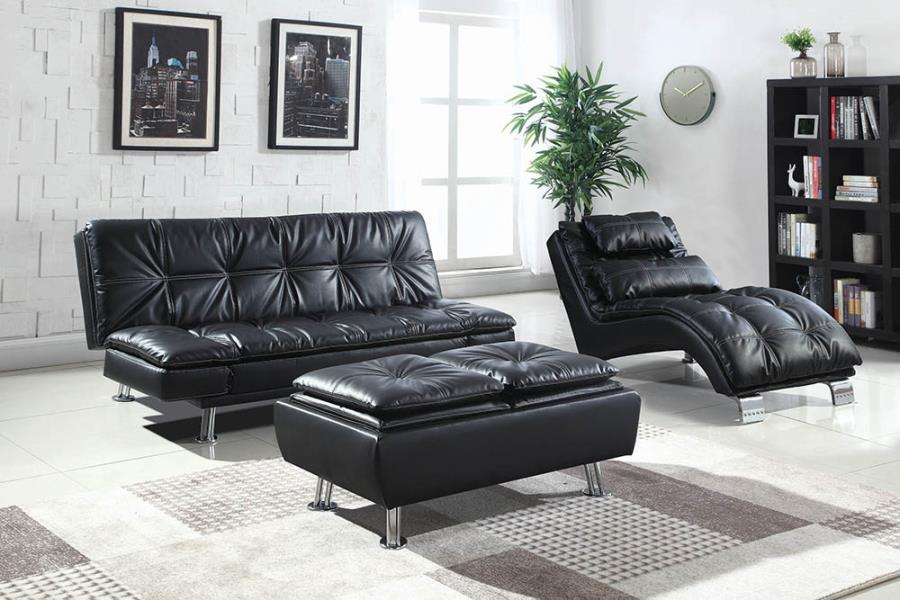 Black Complete Sofa Bed Set