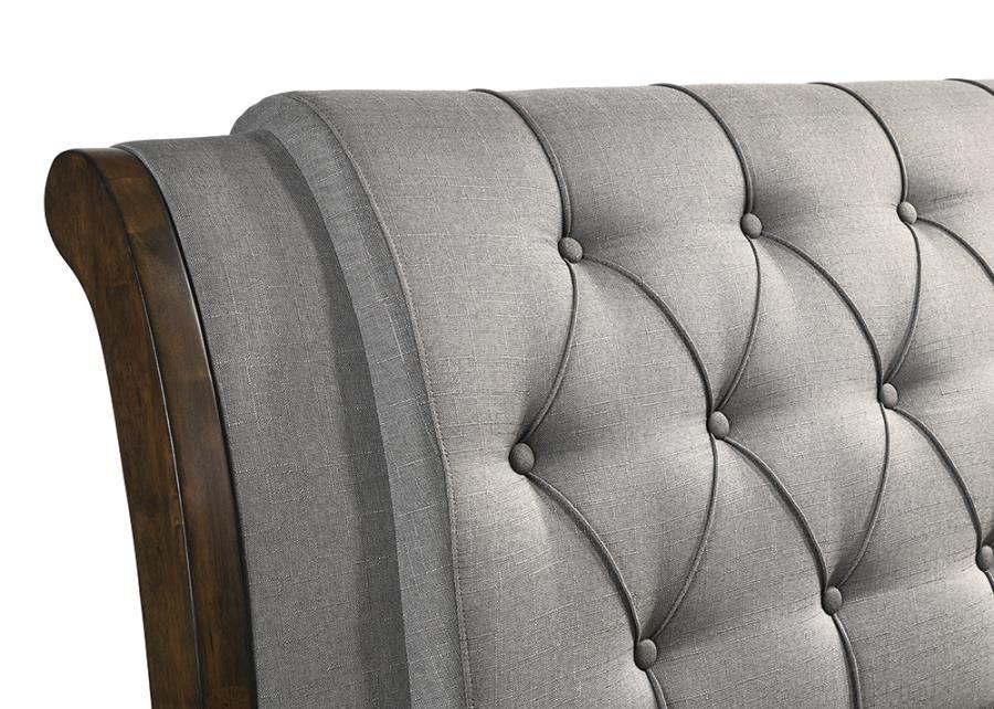 Grey Upholstered Headboard