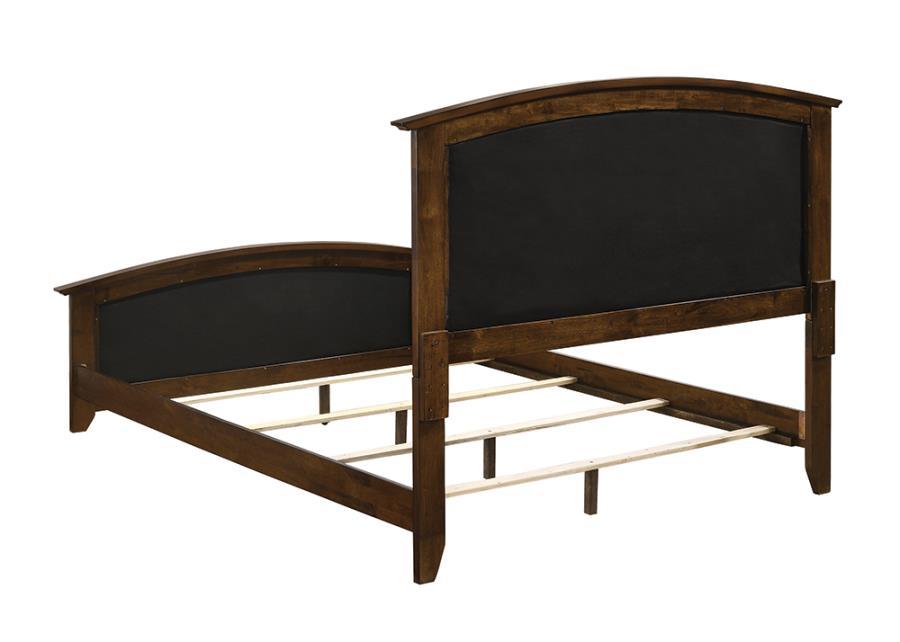 Brown Upholstered Bed Frame Back