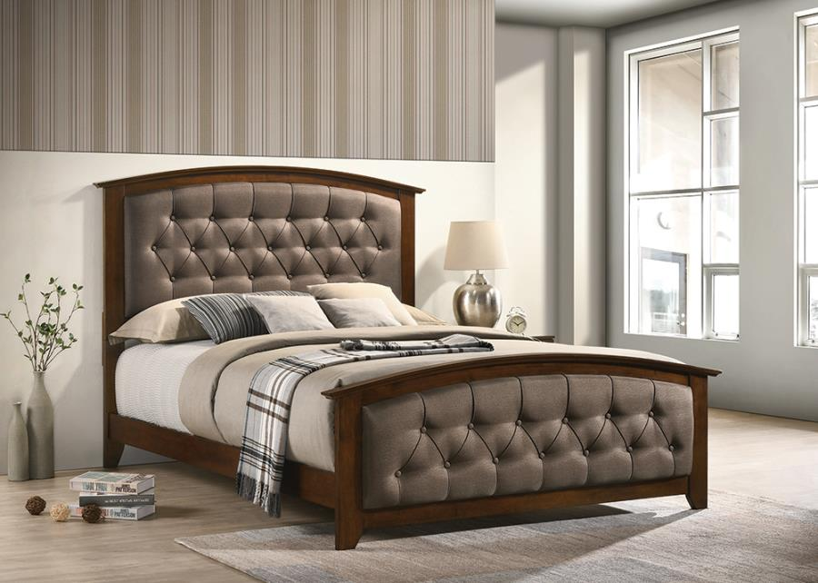 Brown Upholstered Bed