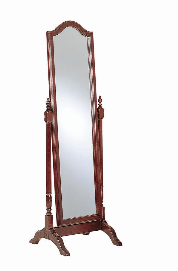 Red Brown Cheval Mirror Angle