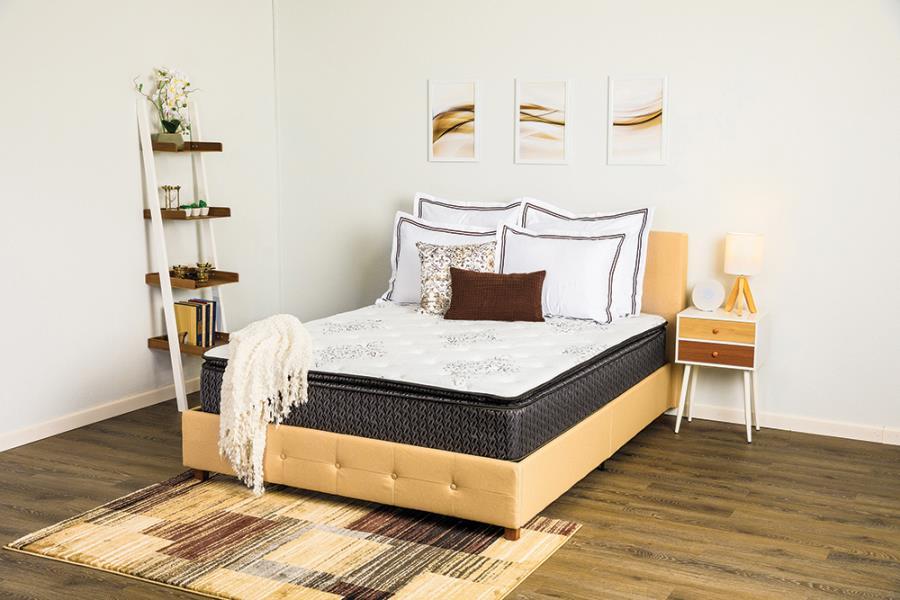 """11.50"""" Pillow Top Mattress on Bed Frame"""
