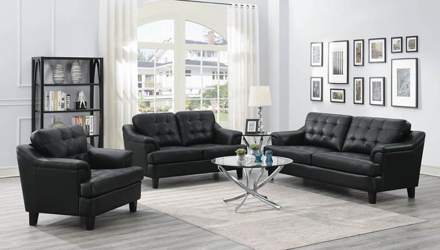 Black Complete Sofa Set