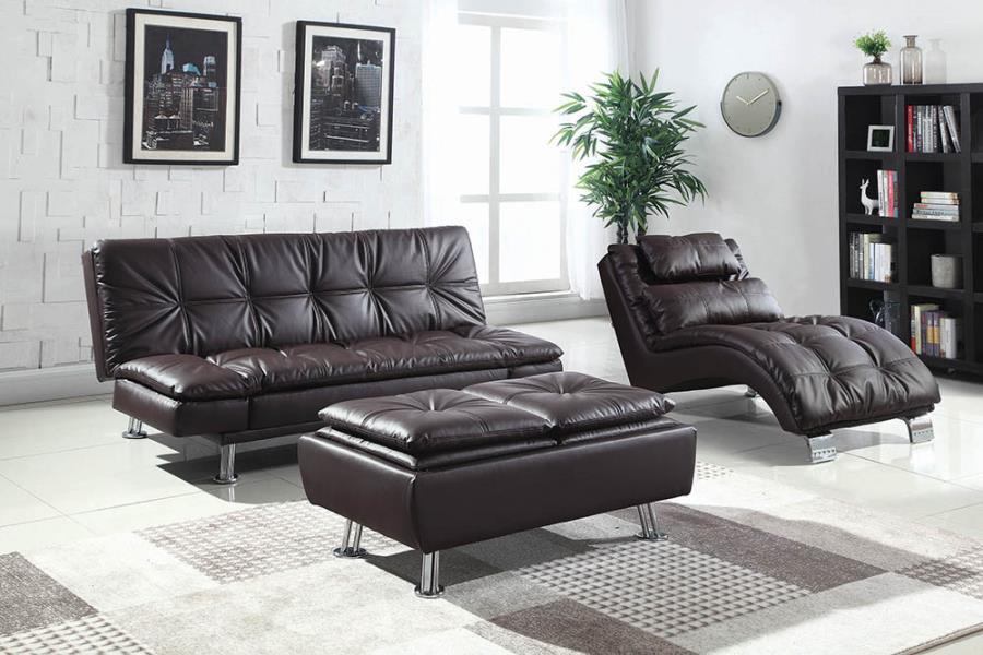 Brown Complete Sofa Bed Set