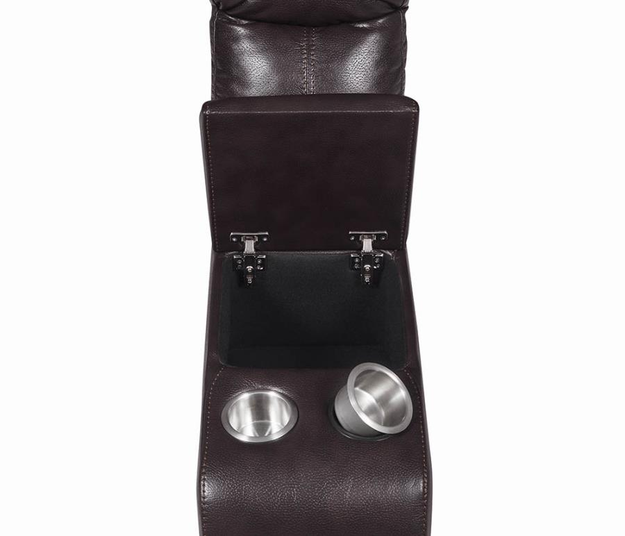 Removable Stainless Steel Cup Holders and Lift Top Storage