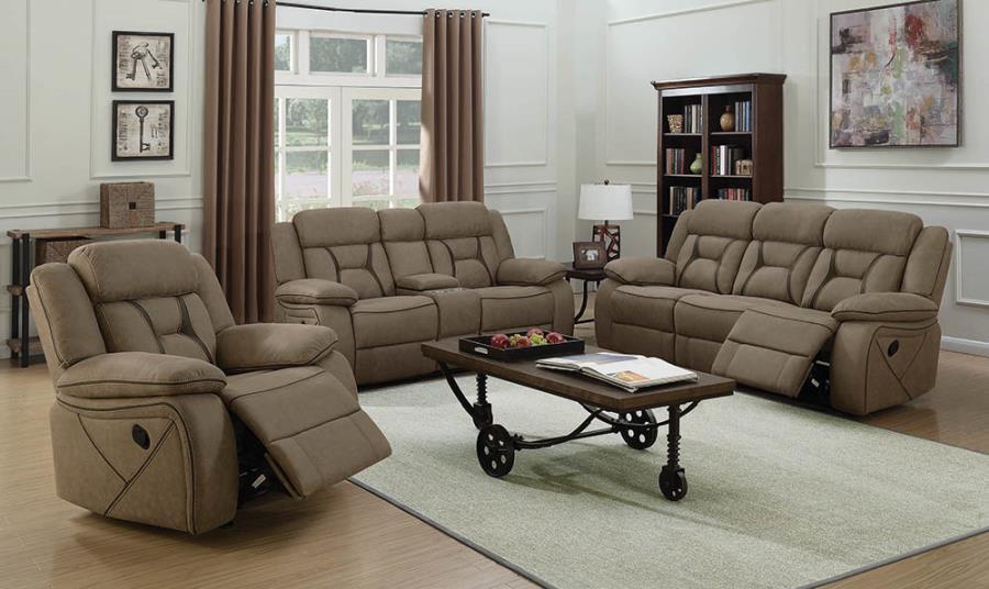 Tan Complete Reclining Sofa Set