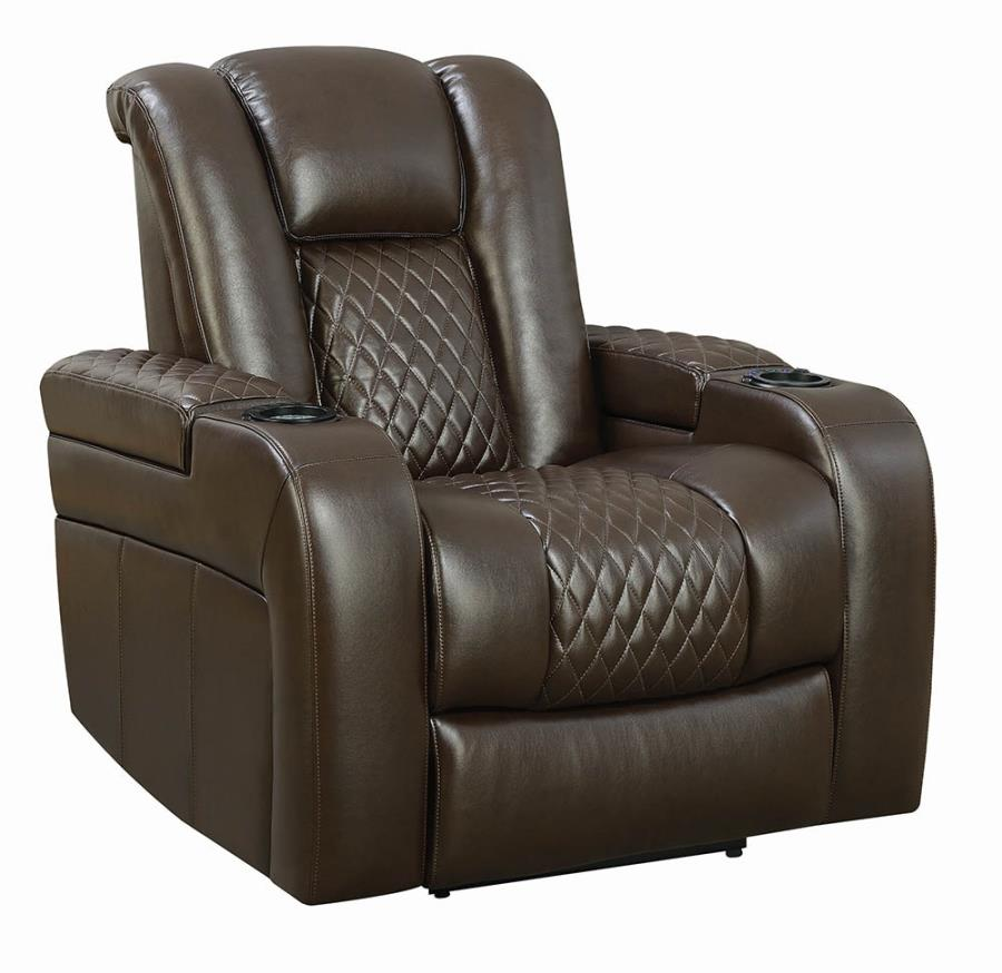 Brown Power Motion Recliner not Opened