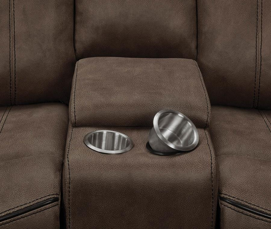 Soft-Closing Lift Top Storage Opened and Removable Stainless Steel Cup Holders