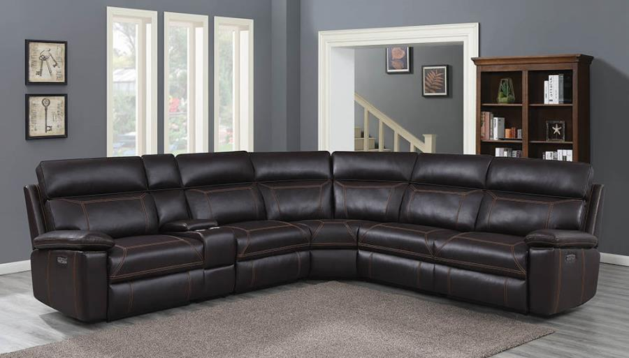 Brown Complete 6-piece Sectional Sofa