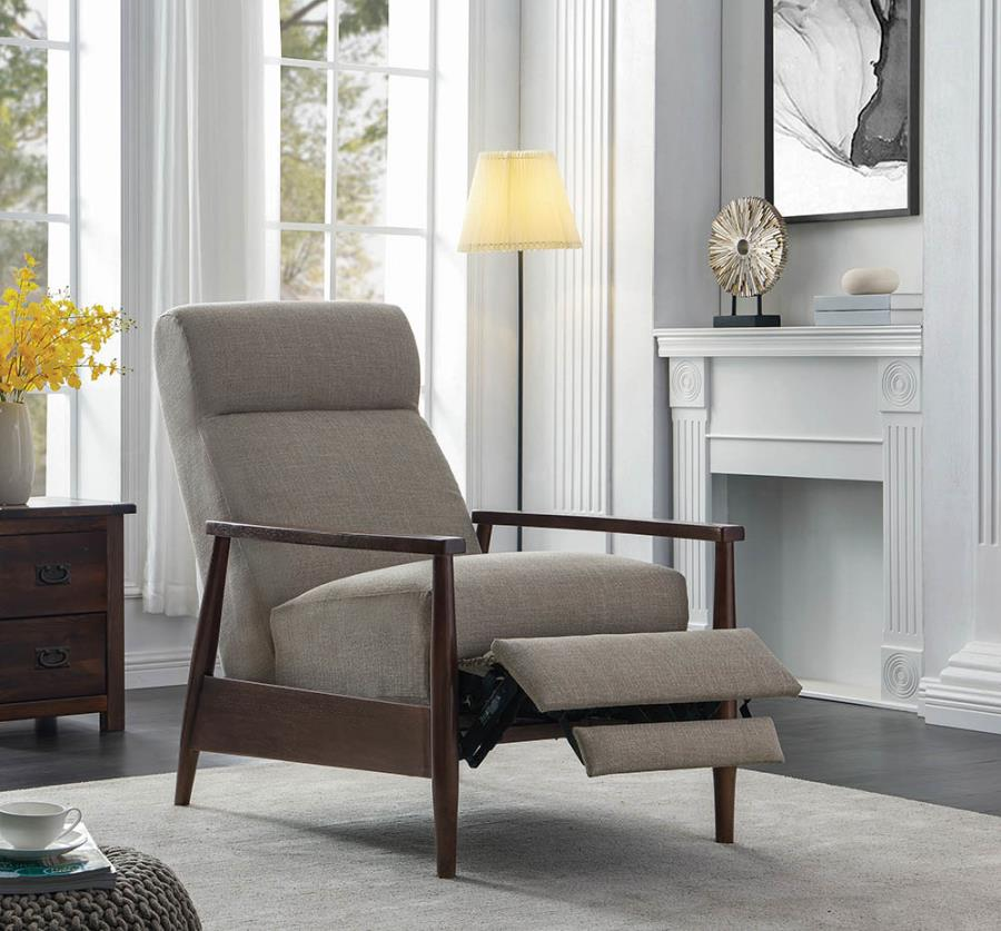 Beige Push Back Recliner