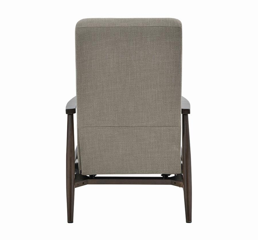 Beige Push Back Recliner Back