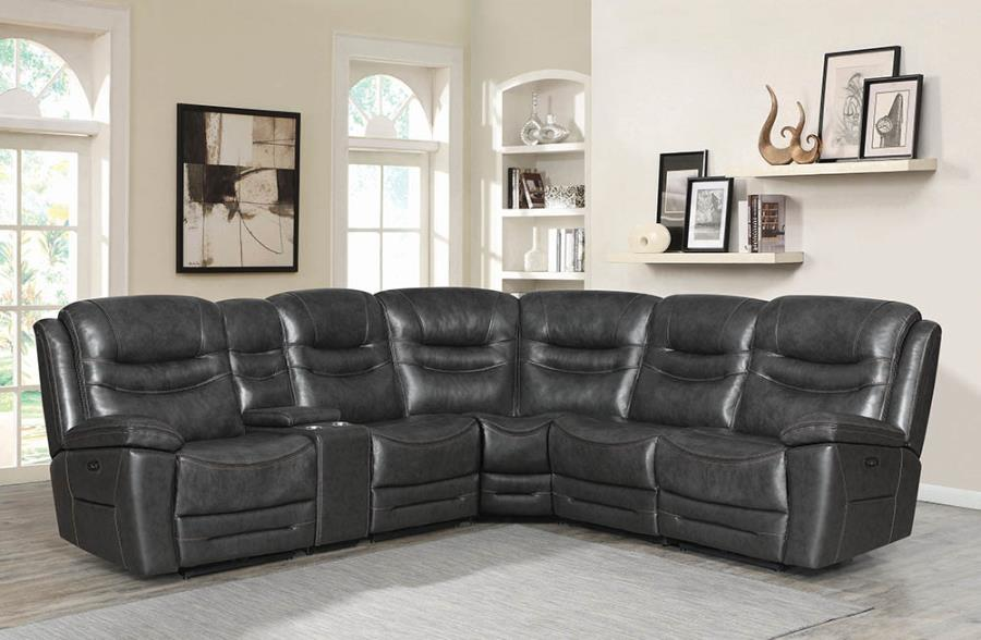 Charcoal Complete 6-piece Sectional Sofa